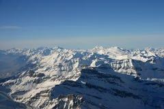 Paisagem aérea dos alpes Imagens de Stock