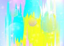 Paisagem abstrata com fundo hologr?fico do cosmos e do universo do futuro ilustração royalty free