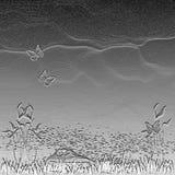 Paisagem abstrata do metal ilustração do vetor