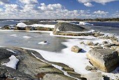 Paisagem adiantada do mar da mola Foto de Stock Royalty Free