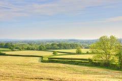 Paisagem agrícola de Inglaterra ocidental sul fotografia de stock