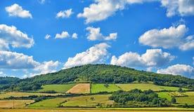 Paisagem agrícola em França central Fotos de Stock Royalty Free