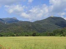 Paisagem agrícola no maciço de Montseny imagem de stock royalty free