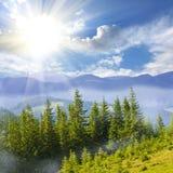 Paisagem agradável da montanha Foto de Stock Royalty Free