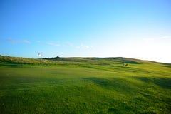 Paisagem agradável do campo de golfe Fotos de Stock Royalty Free