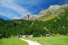 Paisagem alpina, Alpe Devero. Fotos de Stock