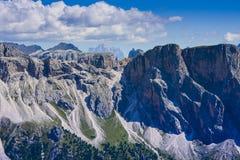Paisagem alpina bonita na montanha de Seceda Odle foto de stock royalty free