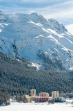 Paisagem alpina da montanha de St Moritz, cumes Imagem de Stock Royalty Free