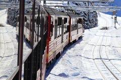 Paisagem alpina da montanha dos cumes em Jungfraujoch Fotografia de Stock