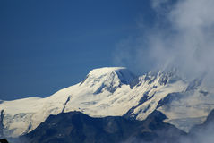 Paisagem alpina da montanha dos cumes em Jungfraujoch, parte superior do interruptor de Europa Foto de Stock Royalty Free