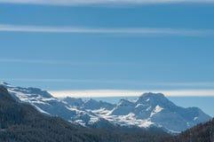 Paisagem alpina da montanha dos cumes em St Moritz Imagem de Stock