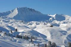 Paisagem alpina das inclinações Foto de Stock Royalty Free
