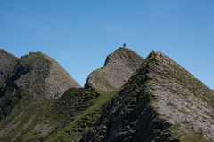Paisagem alpina do verão. Fotografia de Stock