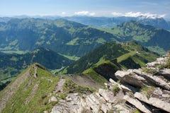 Paisagem alpina do verão. Bresin Imagens de Stock