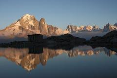 Paisagem alpina mágica Fotografia de Stock