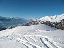 Paisagem alpina montanhosa Foto de Stock
