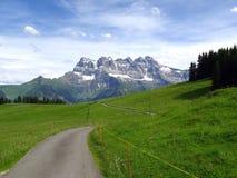 Paisagem alpina, Switzerland Fotos de Stock Royalty Free
