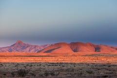 Paisagem alta clara New mexico E.U. do deserto do por do sol Imagem de Stock