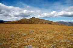 Paisagem amarela das montanhas Imagem de Stock