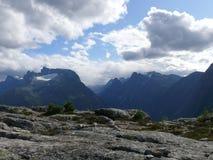 Paisagem Andalsnes Nesaksla de Noruega Fotografia de Stock Royalty Free