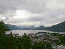 Paisagem Andalsnes Nesaksla de Noruega Fotos de Stock Royalty Free