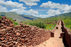 Paisagem antiga da parede da cidade, Peru Foto de Stock Royalty Free