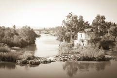 Paisagem antiga de Córdova do Sepia fotografia de stock