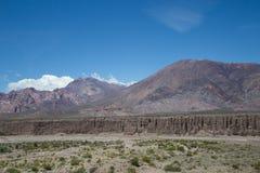 Paisagem ao longo da rota nacional 7 em Argentina Imagens de Stock Royalty Free