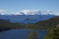Paisagem ao longo do Carretera Austral, o Chile Imagem de Stock