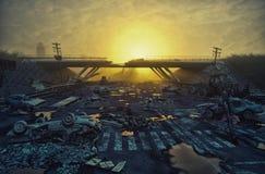 Paisagem apocalíptico ilustração do vetor