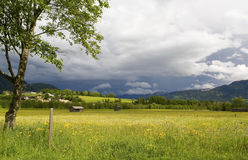 Paisagem austríaca dos alpes Foto de Stock Royalty Free