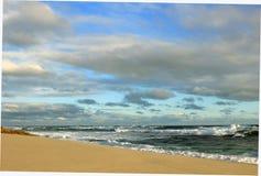 Paisagem azul do oceano Imagem de Stock