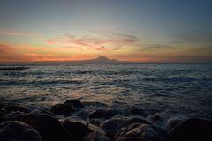 Paisagem Bali vulcan das ilhas Imagens de Stock Royalty Free