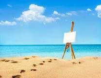 Paisagem bonita com a armação no Sandy Beach Foto de Stock