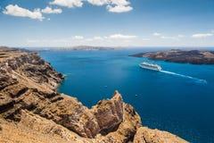 Paisagem bonita com opinião do mar Fotografia de Stock Royalty Free