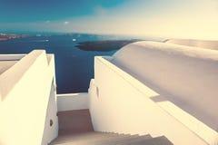 Paisagem bonita com opinião do mar no por do sol Fotografia de Stock Royalty Free