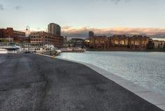 A paisagem bonita da cidade em Tampere Fotos de Stock