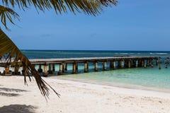 Paisagem bonita da ilha de Saona imagem de stock