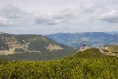 Paisagem bonita da mola em montanhas de Carpathians ucrânia Imagens de Stock