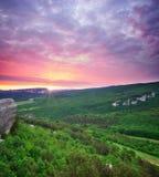 Paisagem bonita da montanha Imagem de Stock