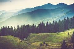 Paisagem bonita da montanha do verão Fotografia de Stock Royalty Free