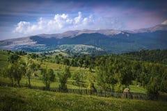 Paisagem bonita da montanha - montanhas Carpathian imagem de stock royalty free