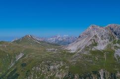Paisagem bonita da montanha nos cumes de Lechtal, Tirol norte, Áustria Imagem de Stock Royalty Free