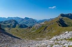 Paisagem bonita da montanha nos cumes de Lechtal, Tirol norte, Áustria Foto de Stock Royalty Free