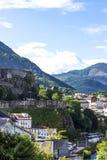 Paisagem bonita da natureza Montanhas Pyrenees Lourdes France foto de stock