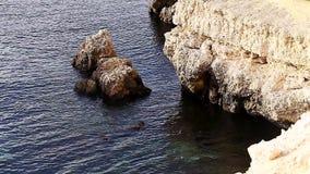Paisagem bonita da natureza, oceano, rochas, costa filme