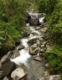 Paisagem bonita da passagem de montanha de Hai Van com rio agradável Imagem de Stock Royalty Free