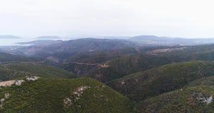 Paisagem bonita das montanhas do verão perto do Templo de Ártemis 4k, slowmotion filme