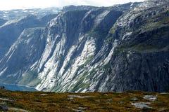 Paisagem bonita de Noruega da natureza fotografia de stock