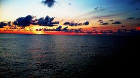 Paisagem bonita do cenário do nascer do sol Fotografia de Stock Royalty Free